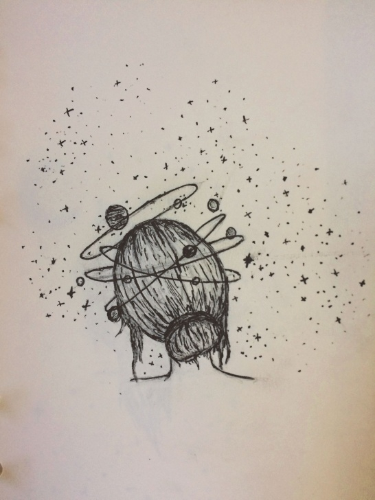 Learn Space Pencil Drawing for Beginners Lost In Thought. #draw #penart #sketches #drawings #space #artwork Picture