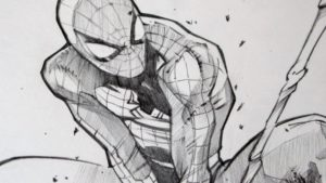 Learn Spiderman Pencil Sketch Tutorial Drawing Spiderman With 2B Graphite Pencil Pics