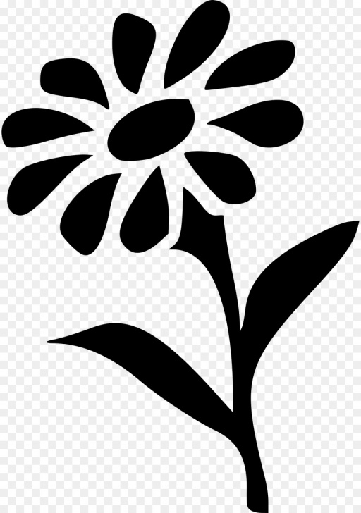 Learn Stencil Art Flowers Easy Border Design Black And White Png Download - 892*1280 - Free Images