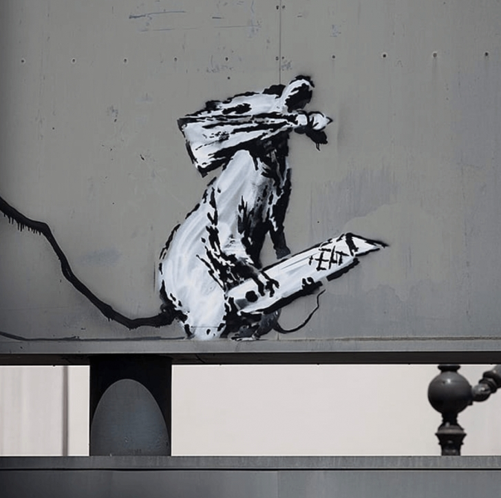 Learn Stencil Street Artists Simple New Banksy Stencil Art Is Causing A Riot In Paris, 2018 Image