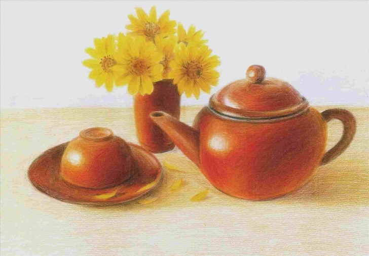 Learn Still Life Drawing In Colour Pencil Free Still Life Drawing Colour Pencil Pic