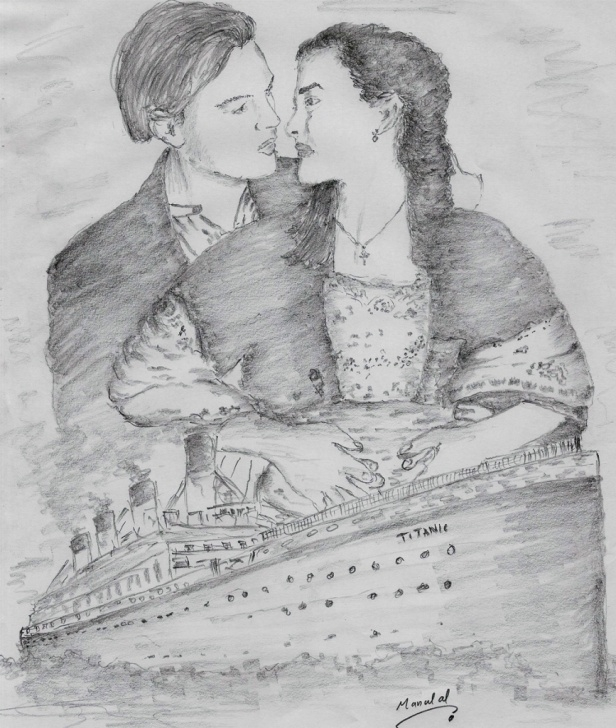 Learn Titanic Pencil Drawing Simple Titanic Pencil Sketch And Pencil Sketch Of Titanic Titanic Pencil Pics