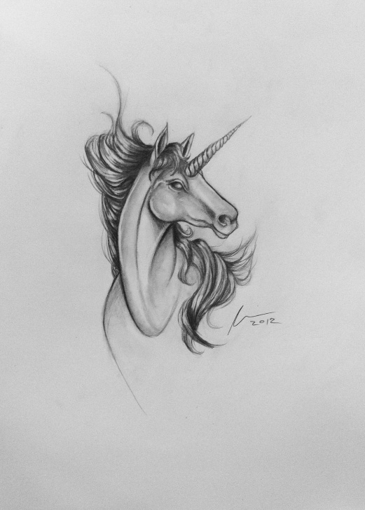 Unicorn Pencil Sketch