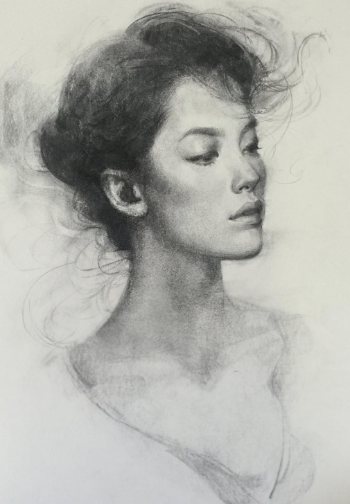 """Learn Vine Charcoal Drawing Tutorial Oliver Sin Vine Charcoal On 18""""x24"""" Paper 