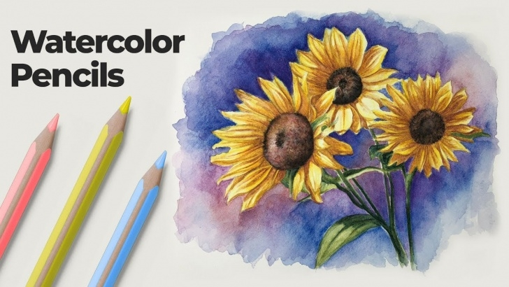 Learn Watercolor Pencil Drawings Lessons How To Use Watercolor Pencils - Techniques And Demonstration Pic