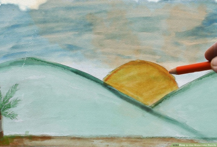 Learn Watercolor Pencil Drawings Simple The Best Way To Use Watercolor Pencils - Wikihow Picture