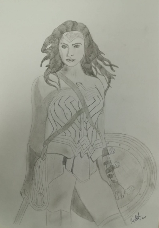Learn Wonder Woman Pencil Drawing Lessons Wonder Woman Pencil Drawing Pic