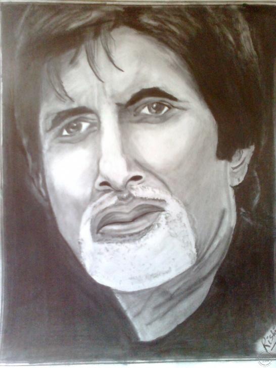 Learning Amitabh Bachchan Pencil Sketch Easy Pencil Sketch Of Amitabh Bachchan | Desipainters Pic
