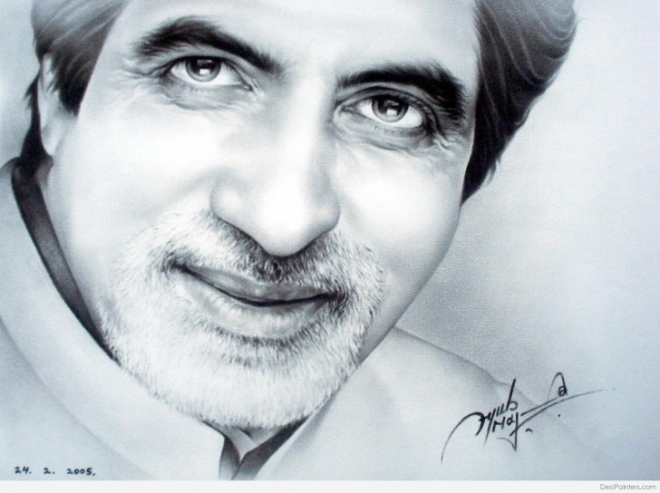 Learning Amitabh Bachchan Pencil Sketch Lessons Beautiful Pencil Sketch Of Amitabh Bachchan | Desipainters Pics