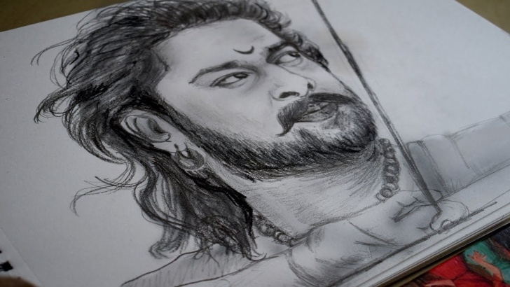 Learning Bahubali 2 Pencil Sketch Lessons Bahubali 2 | Pencil Sketch Of Prabhas |Speed Video| Images