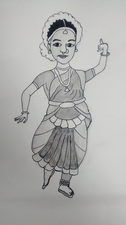 Bharatanatyam Pencil Sketches