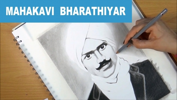 Learning Bharathiyar Pencil Drawing Techniques for Beginners An Artistic Tribute To Mahakavi Bharathiyar Pictures