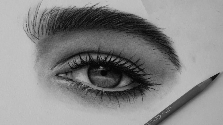 Learning Black Charcoal Drawings Simple How I Draw Eyes With Charcoal Pencils Pic