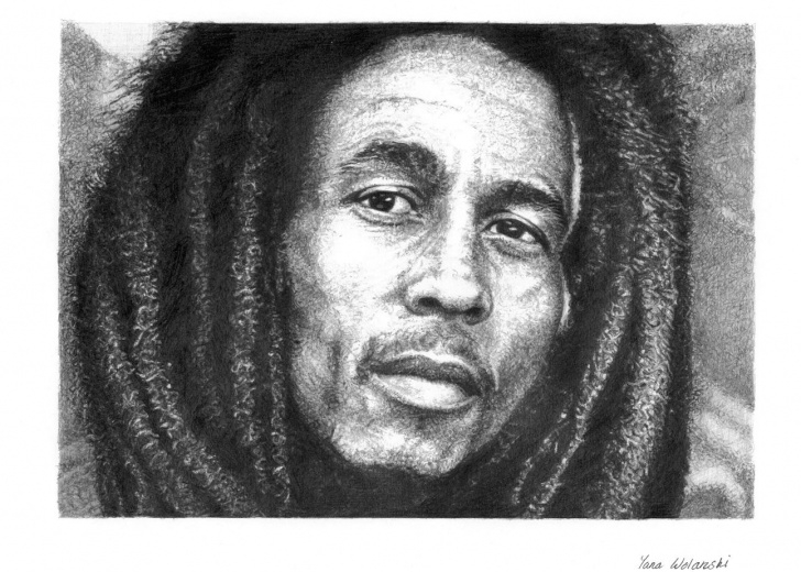Learning Bob Marley Pencil Drawing Ideas Bob Marley, Pencil Portrait. | Celebrity Drawings Ii | Pencil Picture