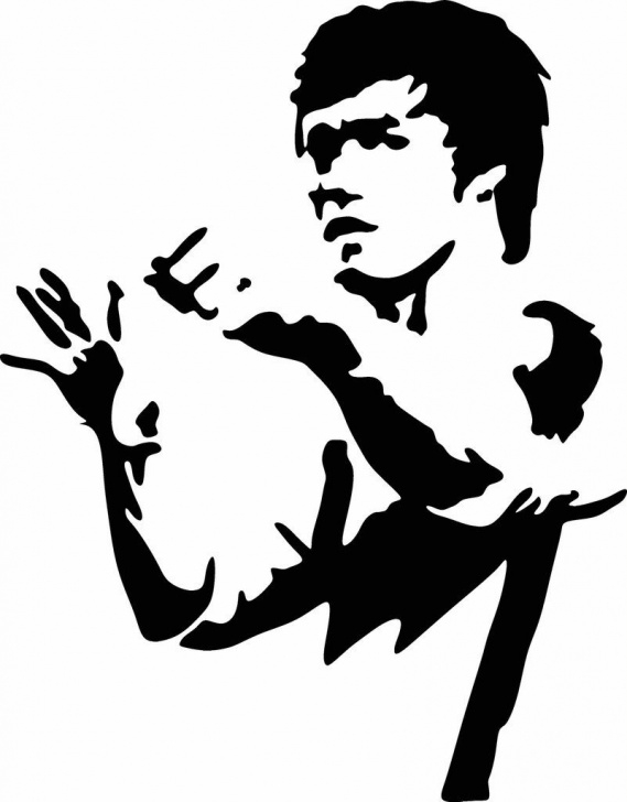 Learning Bruce Lee Stencil Step by Step For All You Bruce Lee Fans This Is A Vinyl Cut Out Decal From A Pics
