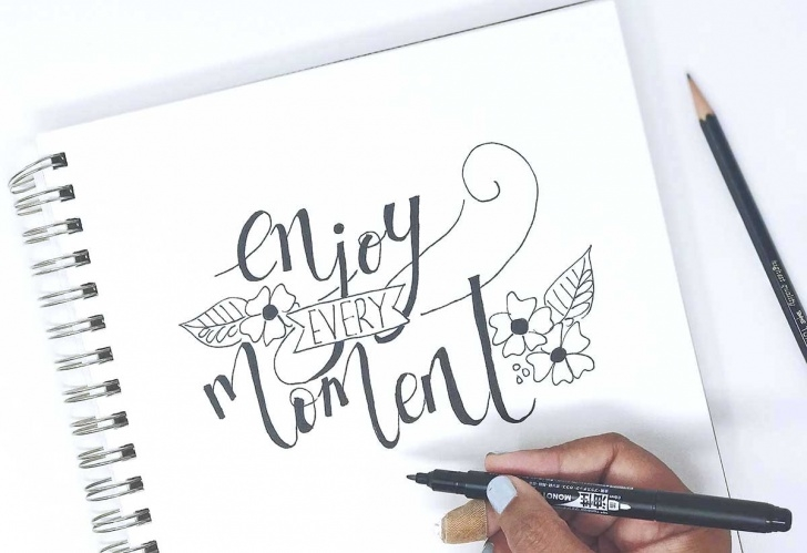 Learning Calligraphy Using Pencil Tutorials Using Your Pencil For Faux Calligraphy - Tombow Usa Blog Images