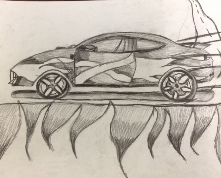 Learning Car Pencil Art for Beginners Pencil Drawing Pic