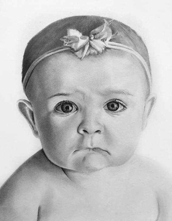Learning Child Pencil Drawing Simple Custom Pencil Sketch/drawing Of Child Photo