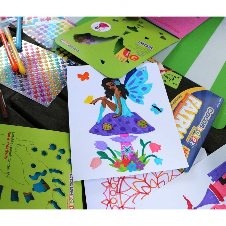 Learning Color Stencil Art Lessons Fairy Colorfoldz Self-Aligning Stencil Photos
