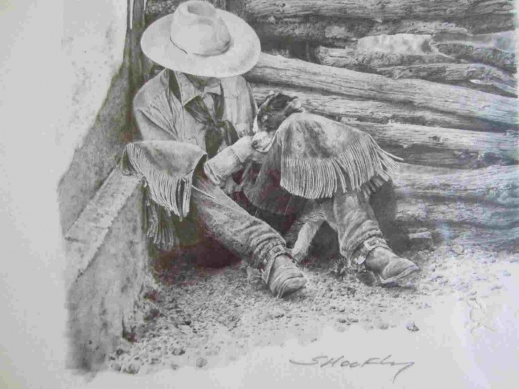 Learning Cowboy Pencil Drawings Tutorials Rhpinterestcom Cowboy Drawing Color Pencils Drawings Cowboy Images