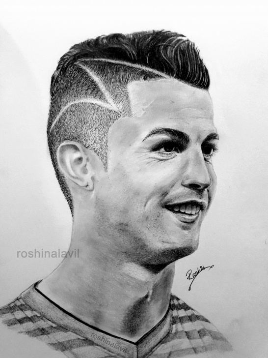 Cr7 Pencil Drawing
