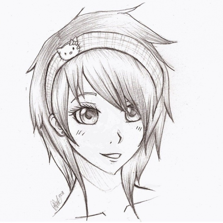 Learning Cute Anime Drawings In Pencil Tutorial Easy Pencil Drawings Of Anime Awesome Pencil Sketch Of Lover Search Photos
