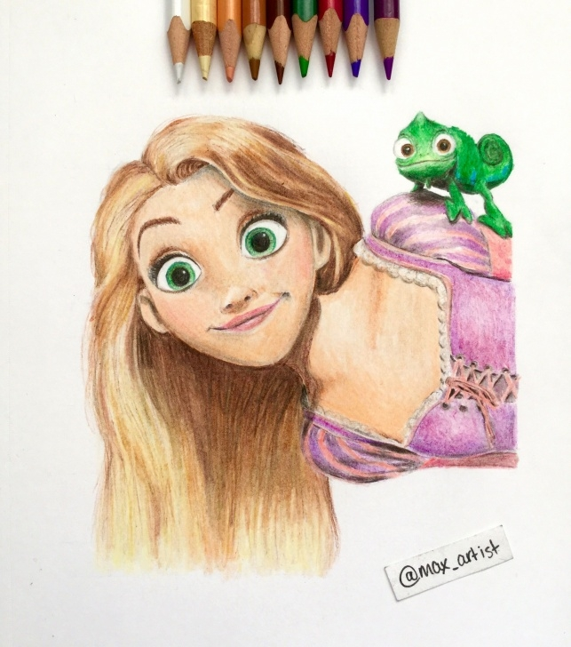 Learning Disney Colored Pencil Drawings Easy Rapunzel Drawing Color At Paintingvalley | Explore Collection Of Pictures