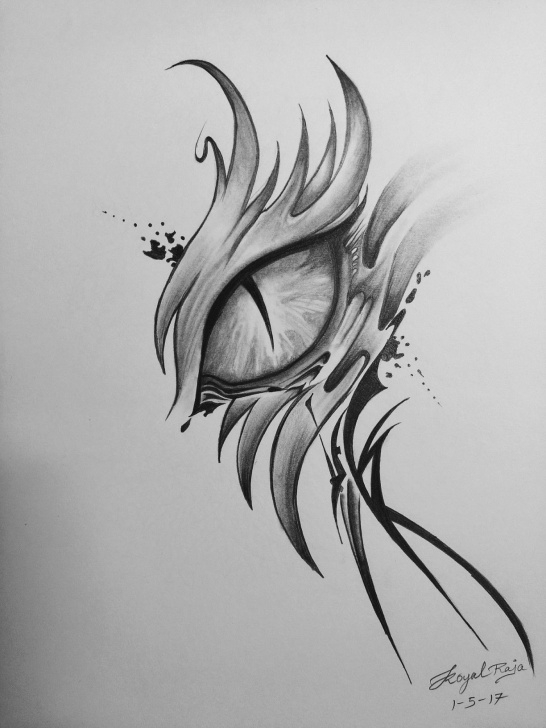 Dragon Eye Pencil Drawing
