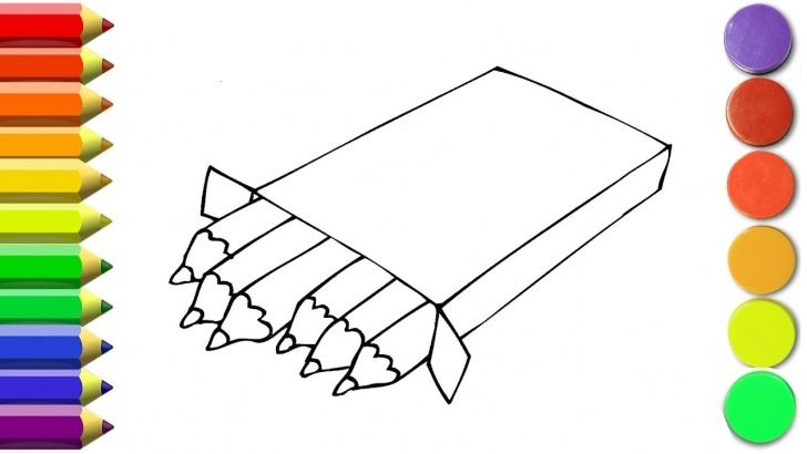 Learning Drawing Of Pencil Box Simple How To Draw Pencil Box For Kids   Coloring Pages Drawing With Colored  Markers Photos