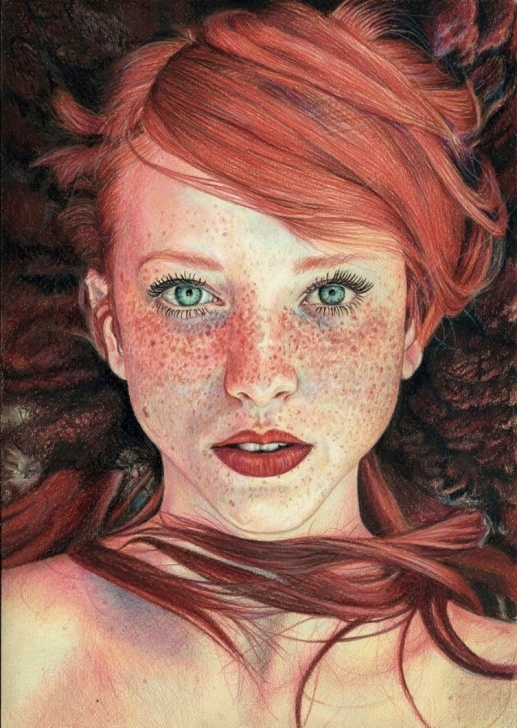 Learning Faber Castell Polychromos Drawing Lessons Colour Pencil Drawing Of ' The Red Queen' By Maja Topcagic. Faber Photo