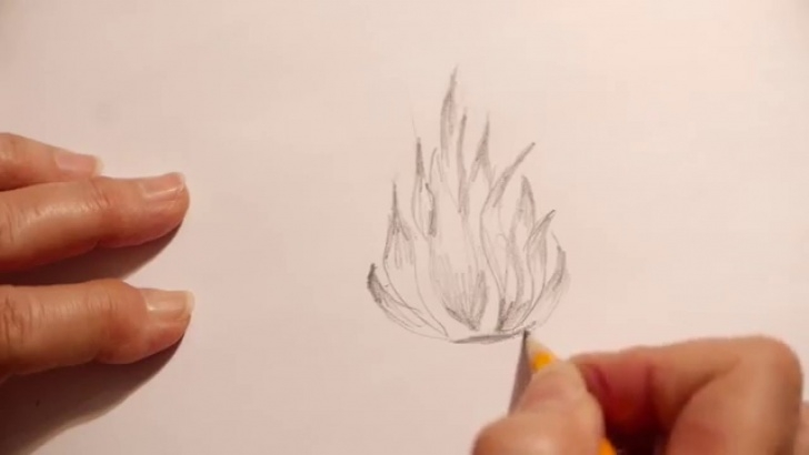 Learning Fire Pencil Drawing Lessons How To Draw Fire Picture