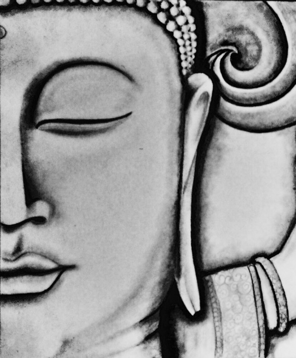 Learning Gautam Buddha Pencil Sketch Simple Drawing Pencil Buddha | Drawings & Paintings In 2019 | Buddha Picture