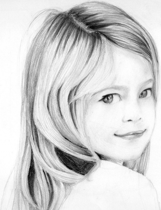 Learning Girl Drawing Pencil Step by Step Pencil Drawings | Portrait Pencil Drawing Of A Young Girl By Neeshma Picture