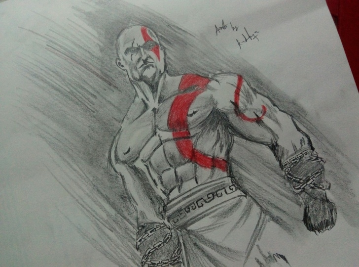God Of War Drawings In Pencil