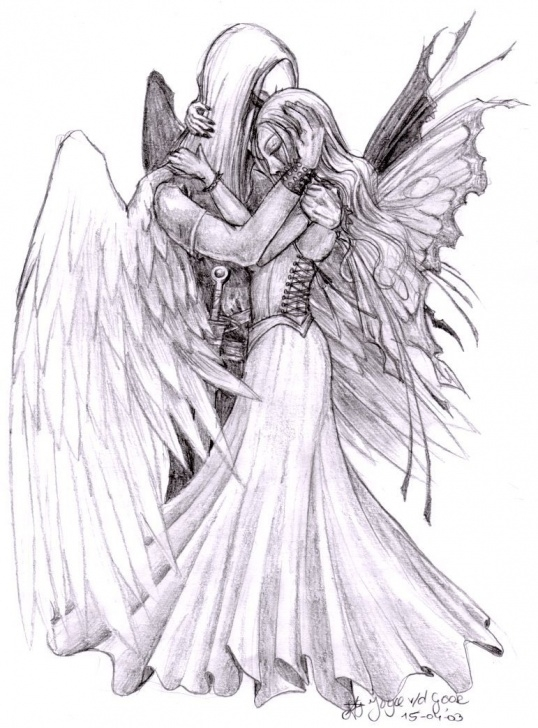 Learning Guardian Angel Pencil Drawings Ideas Guardian Angel Drawing At Paintingvalley | Explore Collection Of Pic