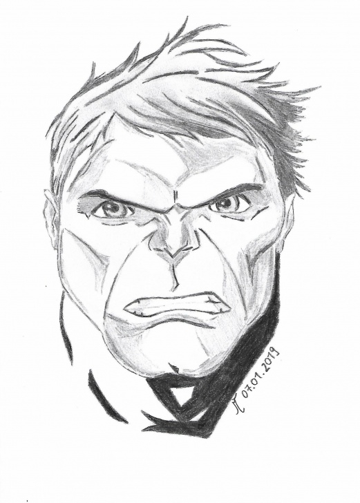 Learning Incredible Pencil Drawings Simple The Incredible Hulk - A Pencil Drawing : Marvelstudios Images