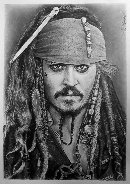 Learning Jack Sparrow Pencil Drawing Tutorials Pencil Drawing Johnny Depp Karakalem | My Drawing Collection In 2019 Pic