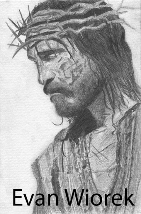 Learning Jesus Pencil Drawing Step by Step The Passion, Pencil Drawing Of Jesus Christ Photos
