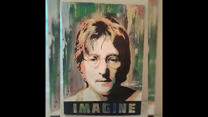 "Learning John Lennon Stencil Art Tutorial Stencil Art - ""john Lennon"" - Spraypaint Portrait Pic"