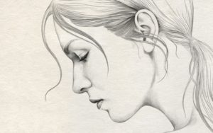 Learning Lady Pencil Sketch Free Simple Pencil Drawing Of Lady Face Side  | Drawing Faces | Pencil Picture