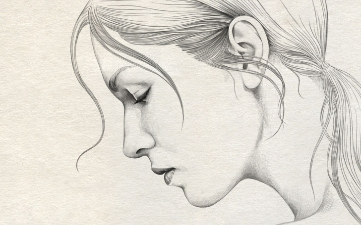 Lady Pencil Sketch