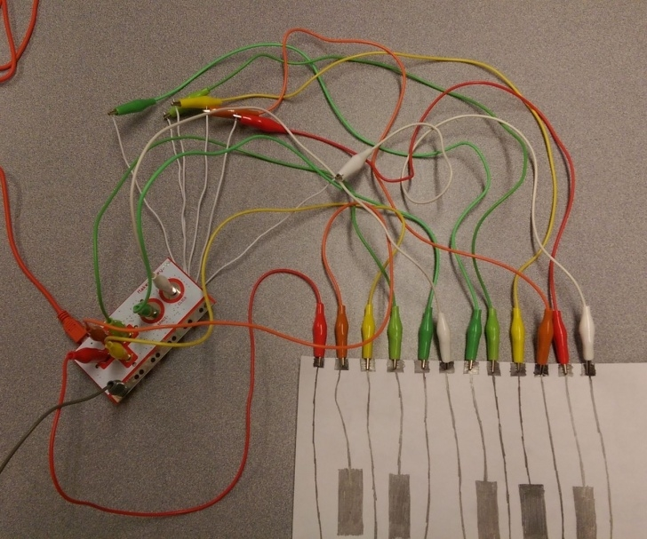 Learning Makey Makey Pencil Ideas Graphite Piano Keyboard With Makey Makey And Scratch: 7 Steps Pictures