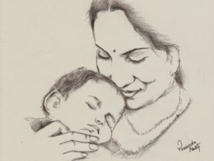 Learning Mother Pencil Sketch Step by Step Indian Mother - Pencil Sketch - Happy Mother's Day   Crtezi In 2019 Pictures