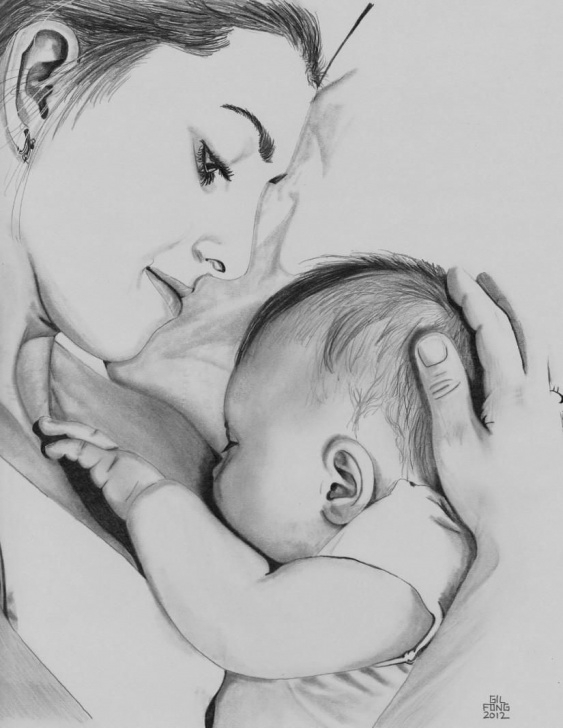 Learning Mothers Love Pencil Drawing Techniques Pencil Sketch | Sonu In 2019 | Pencil Drawings, Drawings, Children Photo