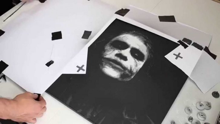 Learning Multi Layer Stencil Art Techniques Heath Ledger Joker - Multi Layer Stencil Art Pictures