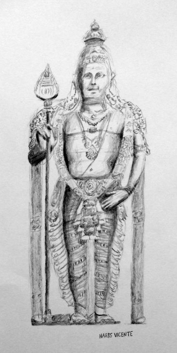 Learning Murugan Pencil Drawing Free Sketches For 2014, Number 2 — Lord Murugan Statue | Art Fn Picture