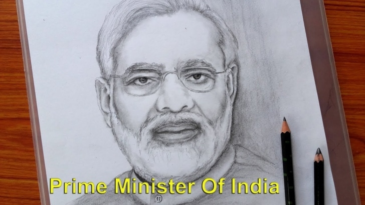 Learning Narendra Modi Pencil Sketch Tutorial Drawing Prime Minister Of India / Narendra Modi Pencil Sketch / Banglar Art Pics