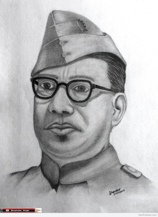 Learning Netaji Subhas Chandra Bose Pencil Sketch Ideas Netaji Subhas Chandra Bose | Desipainters Pics