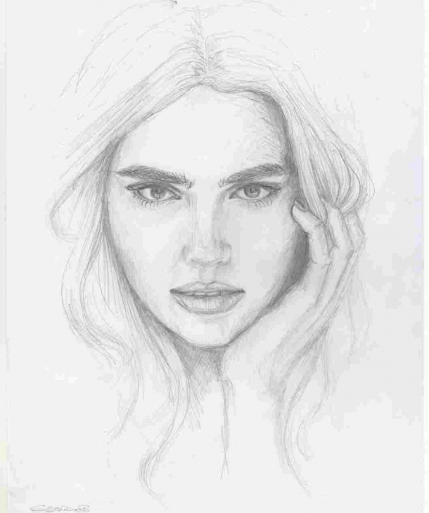 Learning Pencil Sketch Of Girl Face Simple Sketch-Female-Rhdrawingslycom-Girl-Pencil-Drawing-Of-A-Girl-Face Images