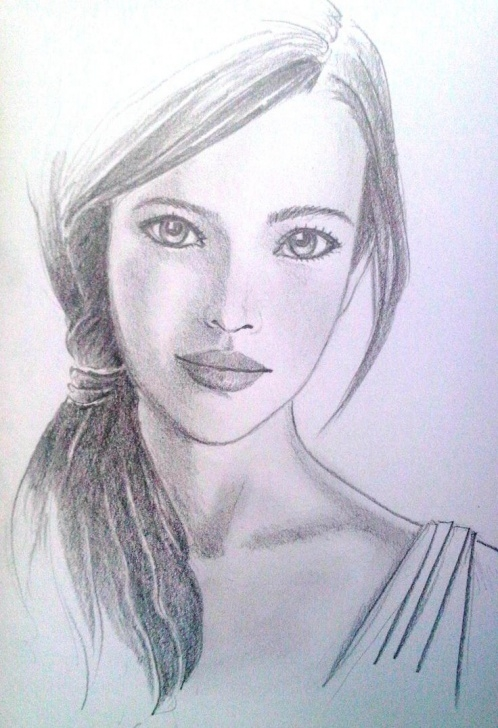 Pencil Sketch Of Girl Face